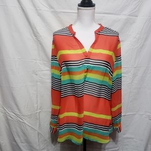 Kate & Mallory Multi Long Sleeve Pull Over Shirt